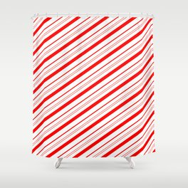 Candy Cane Stripes Shower Curtain