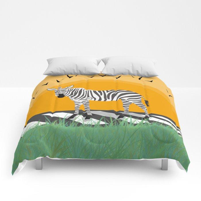 Zebra Comforters