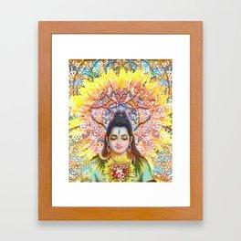 Sunflower Shiva Framed Art Print