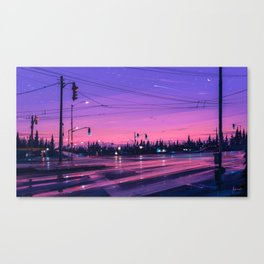 7 p.m. Canvas Print