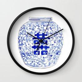 Blue and White China Ginger Jar 8 Wall Clock