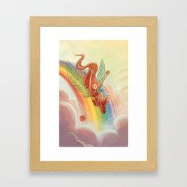 Goblins Drool, Fairies Rule! - Rainbow Swoop Framed Art Print