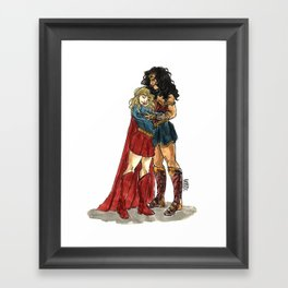 Super Hug Framed Art Print