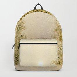 Golden Winter Forest Backpack