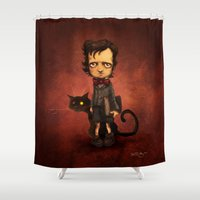 poe Shower Curtains featuring Little Poe by Poe Collection (by David G. Forés)