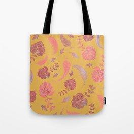 Paradise Patterns - Yellow & Coral Tote Bag