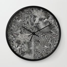 Optic kinetic art Wall Clock