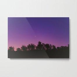Sunset and Moon Metal Print