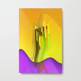 orange and yellow glass Metal Print