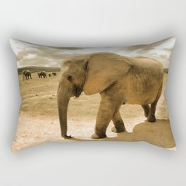 Wildlife big Elephant Rectangular Pillow
