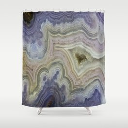 Royal Aztec Lace Agate Shower Curtain