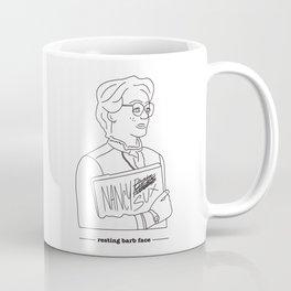 Resting Barb Face Coffee Mug