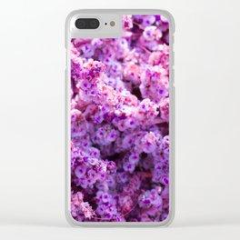 Rest Stop Flowers ~ Salt Flats, Utah Clear iPhone Case