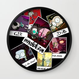 Invader Zim Photo Collage Wall Clock
