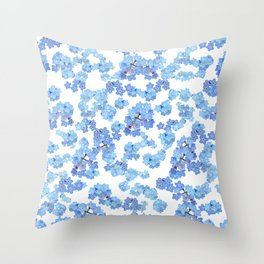 Forget me not I Throw Pillow
