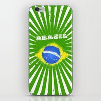 brazil iPhone & iPod Skins featuring Brazil  by morganPASLIER