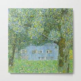 Klimt - Farmhouse in Upper Austria (new editing) Metal Print
