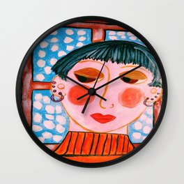 """""""Mira Didn't Think She Was Up To Christmas This Year"""" Wall Clock"""