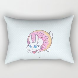 Bunnies - donut Rectangular Pillow