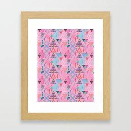 GeoTribal Pattern #008 Framed Art Print
