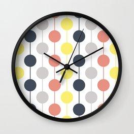 Colorful circles and stripes Wall Clock