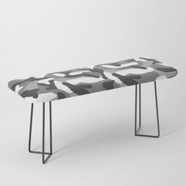 Grey Gray Camo Camouflage Bench