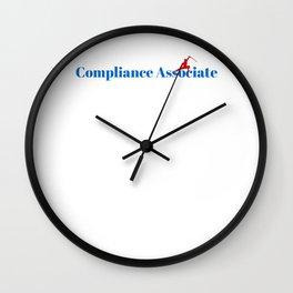 Compliance Associate Ninja in Action Wall Clock