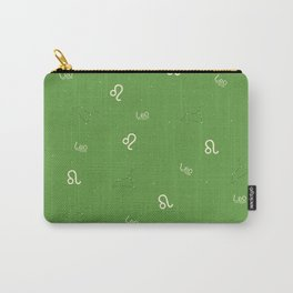 Leo Pattern - Green Carry-All Pouch