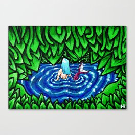 Mermaid Yearn Canvas Print