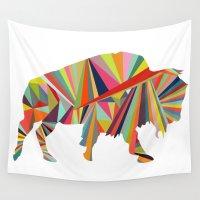 buffalo Wall Tapestries featuring Buffalo by Alex Dehoff