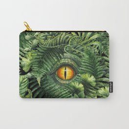Watercolor dinosaur eye and prehistoric plants Carry-All Pouch