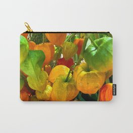 Chinese Lantern Flower Carry-All Pouch