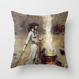 The Magic Circle John William Waterhouse Throw Pillow