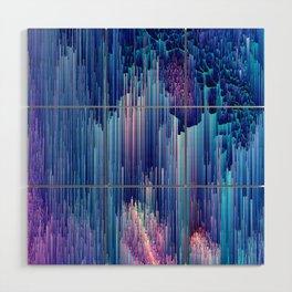 Beglitched Waterfall - Abstract Pixel Art Wood Wall Art