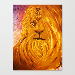Roarin like a Lion Canvas Print