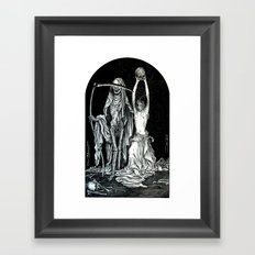 Death and the Maiden II Framed Art Print
