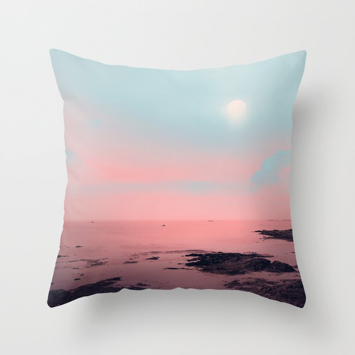 MISTY PINK Throw Pillow