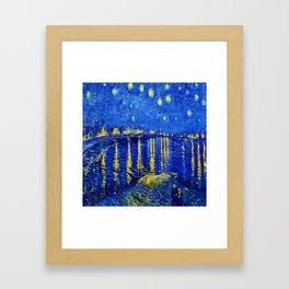 Starry Night Over Rhone Framed Art Print