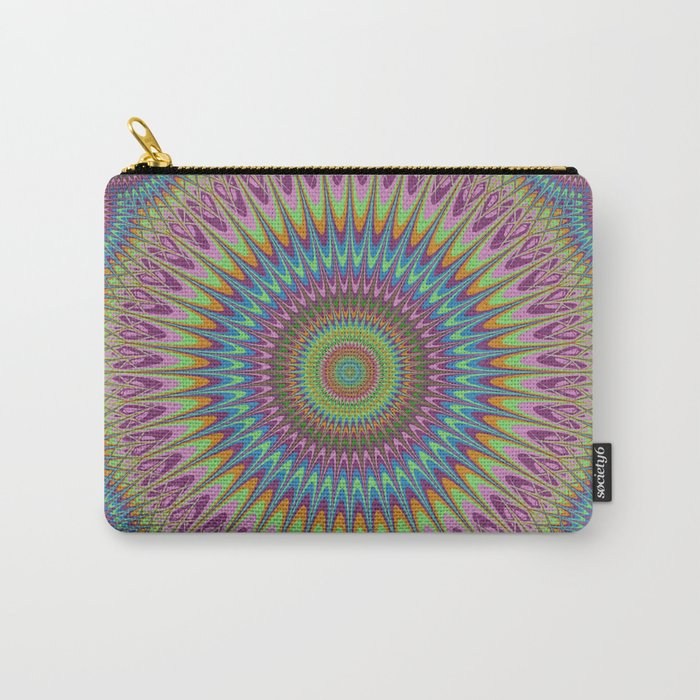 Psychedelic mandala Carry-All Pouch