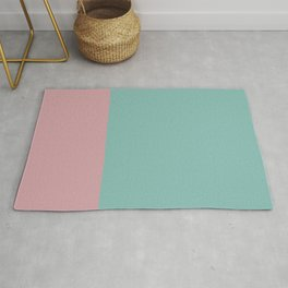 Turquoise & Pink Color Block Rug