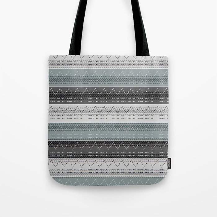 Morse Code Stripe Tote Bag