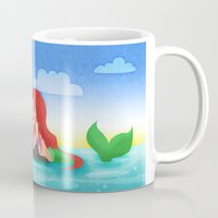 ouat Mugs featuring OUAT - Mermaids by Choco-Minto
