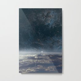 Space exploration earth and night sky Metal Print