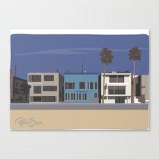Strand homes Canvas Print