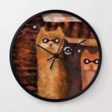 Cat Burglars Wall Clock