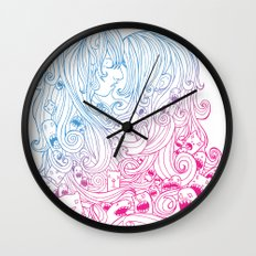 Kiss Kiss Wall Clock