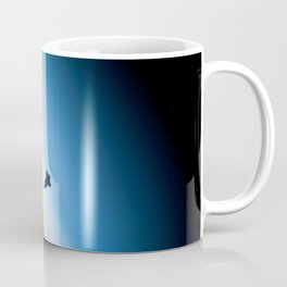 Endeavour silhouette STS 130 Coffee Mug