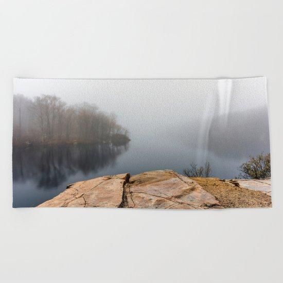 Foggy reflections Beach Towel