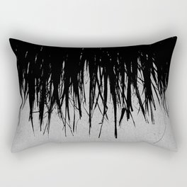 Concrete Fringe Black Rectangular Pillow