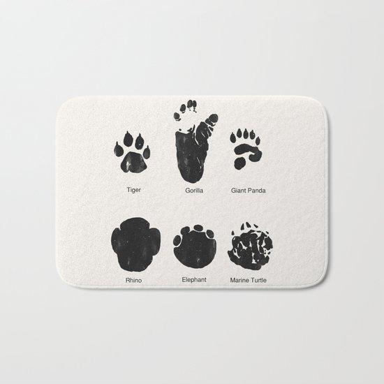 Animal Track Bath Mat